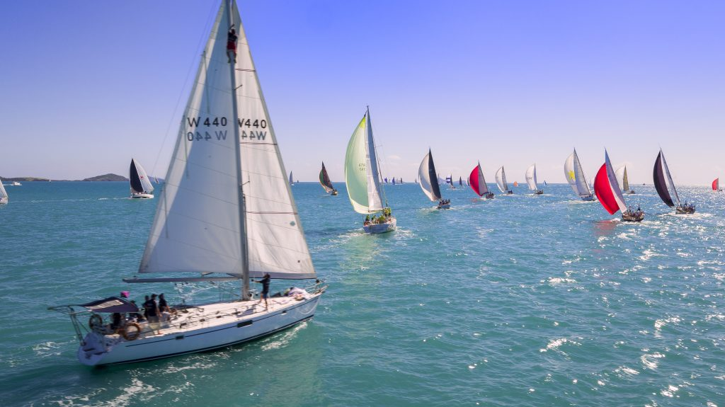 Sailing at Airlie Beach Race Week