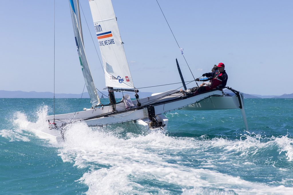 Multihull sailing at Airlie Beach Race Week