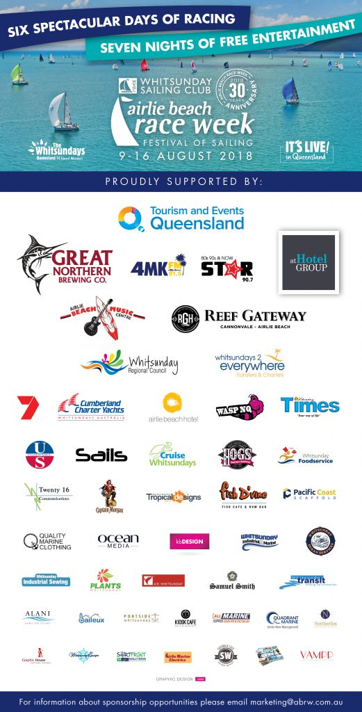 WSC1808 ABRW Sponsors Board LOWRES - Airlie Beach Race Week