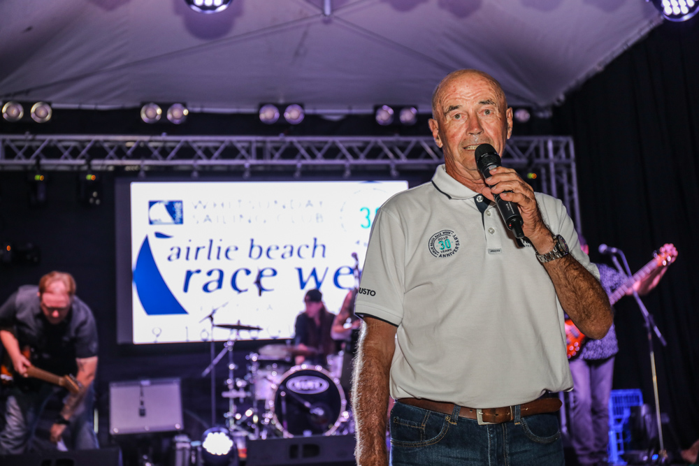 Race Week founder Don Algie addressing the crowd at the highly successful 30th anniversary of the Festival of Sailing - Photo: Andrew Pattinson/Vampp Photography