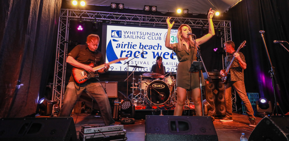 Live entertainment is a nightly feature of the Airlie Beach Race Week's onshore Festival of Sailing - Photo: Andrew Pattinson/Vampp Photography