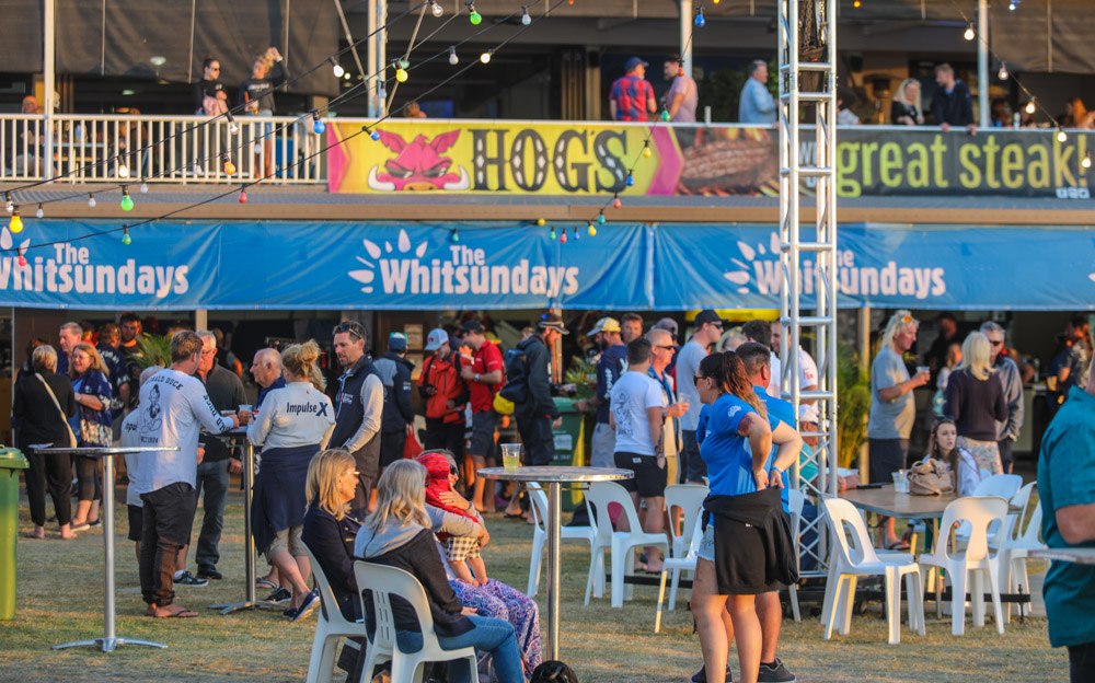 Regatta HQ at the Whitsunday Sailing Club is where the social side of Airlie Beach Race Week kicks in - Photo: Andrew Pattinson/Vampp Photography