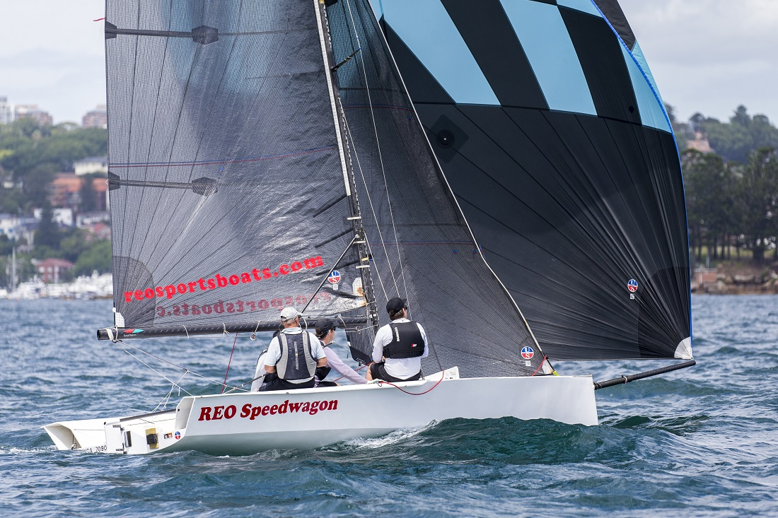Andrew York sailing the 2019 Sydney Harbour regatta. Photo by Andrea Francolini