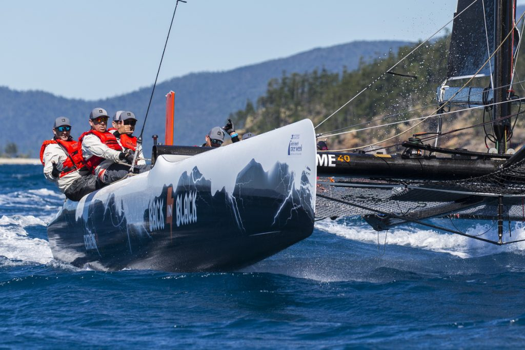 BACK IN BLACK racing at Airlie Beach Race Week - Photo: Andrea Francolini