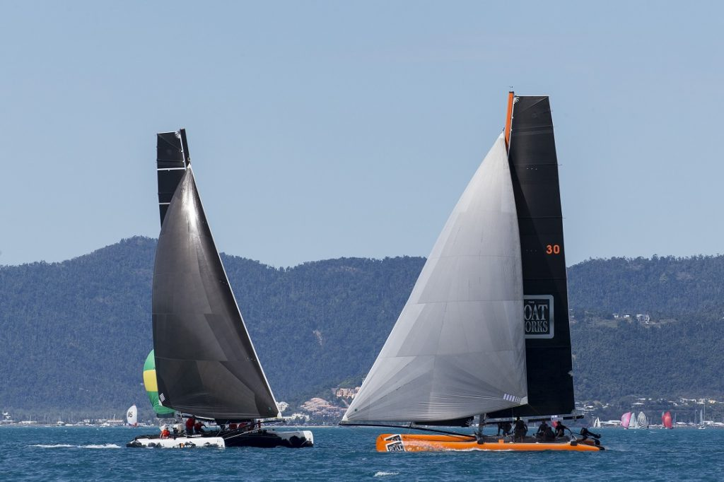 Back in Black and The Boat Works battling it out on Day 2 of Airlie Beach Race Week - Photo: Andrea Francolini